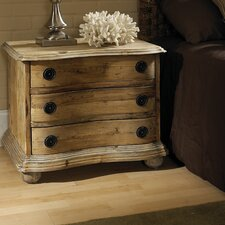 Salvaged Wood 3 Drawer Nightstand