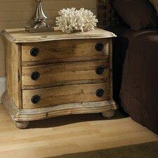 Salvaged Wood 3 Drawer Nightstand