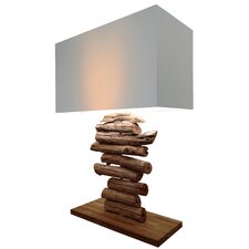 "Natura Primitive Linear 23.01"" H Table Lamp with Rectangle Shade"
