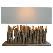 "Natura Primitive 24.18"" H Table Lamp with Rectangle Shade"