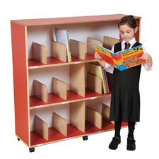 Primary Coloured Children's Bookcase