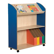 Primary Coloured 2 Shelf Bookcase and Display Unit
