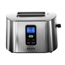 2 Slice Digital Toaster in Brushed Stainless Steel