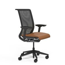 Think® Mid-Back Leather Office Chair