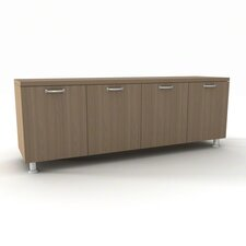 "Currency 60"" Lower Storage Cabinet with Nickel Handles"