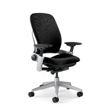 <strong>Steelcase</strong> Leap Mid-Back Mesh and Leather Office Chair