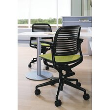 <strong>Steelcase</strong> Cachet Upholstered Seat Swivel-Base Chair