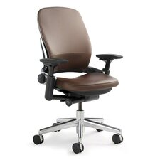 Leap® Mid-Back Leather Office Chair