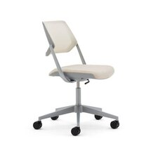 "<strong>Steelcase</strong> 33.25"" Mesh QiVi Office Chair with No Arms"