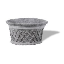 ResinStone Round Lattice Planter