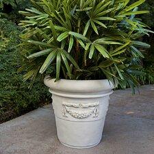 ResinStone Rolled Rim Garland Planter