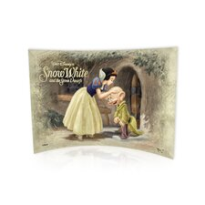 Snow White and the Seven Dwarfs (Dopey Kiss) Graphic Art Plaque