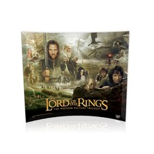 <strong>Trend Setters</strong> Lord of the Rings (Character Collage) Curved Glass Print