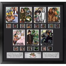 Wizard of Oz 75th Anniversary Character Montage FilmCell Presentation Framed Memorabilia