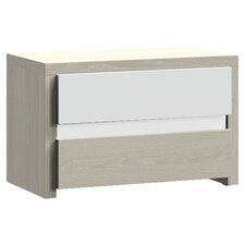 Docker 2 Drawer Bedside Table