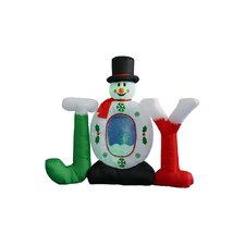 4 ft. Joy Snowman Snow Globe Decoration