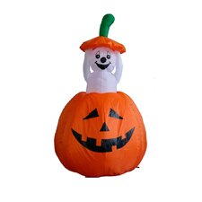 4 ft. Animated Halloween Inflatable Pumpkin Ghost Decoration