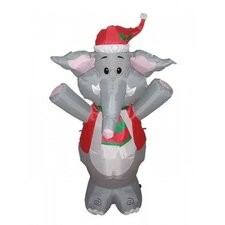 4' Christmas Inflatable Cute Standing Elephant