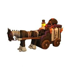 11.5' Long Halloween Inflatable Haunted Carriage