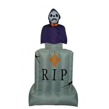 6' Halloween Inflatable Animated Tombstone