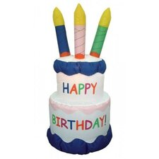 Inflatable Cake with Candles Happy Birthday Decoration