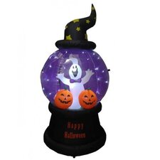 6' Halloween Inflatable Ghost and Pumpkins Globe