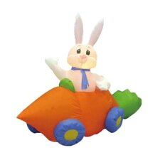 5' - 6' Easter Inflatable Rabbit in Carrot Car