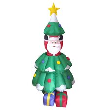 Christmas Inflatables Animated Santa and Tree Decoration