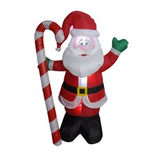 Christmas Inflatable Santa Claus with Candy Cane Decoration
