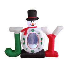 Christmas Inflatable Joy Snowman Snow Globe Decoration