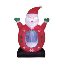 Christmas Inflatable Santa with Snowflake Decoration