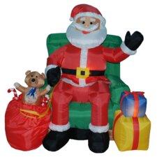 4 Foot Animated Santa Claus on Sofa Inflatable