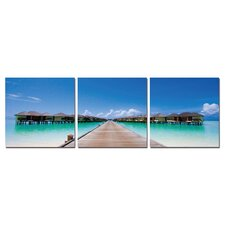 Paradise Found Modern 3 Piece Photographic Print