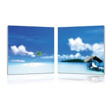 Oasis Modern 2 Piece Photographic Print