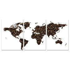 <strong>BZB Goods</strong> Coffee World Map Modern Wall Art Decoration