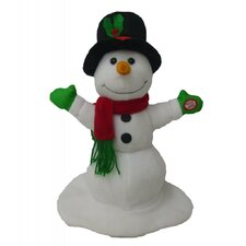 Singing Spinning Snowman Musical Plush Toy with Motion