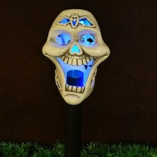Skull Ceramic Solar Powered Changing LED Light