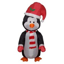 4' Christmas Inflatable Cute Standing Penguin