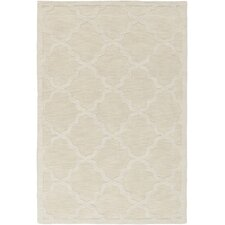 Central Park Beige Geometric Abbey Area Rug