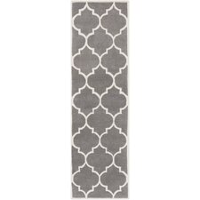 Transit Charcoal Geometric Piper Area Rug