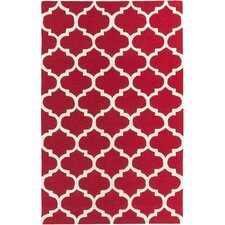 Pollack Red Geometric Stella Area Rug