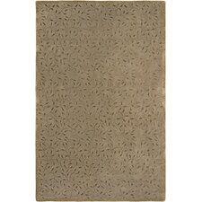 Gardenia Brown Hand-Tufted Floral Outdoor Area Rug