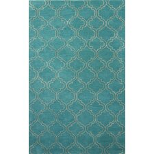 Baroque Blue/Ivory Area Rug