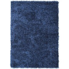 Flux Blue Solid Area Rug