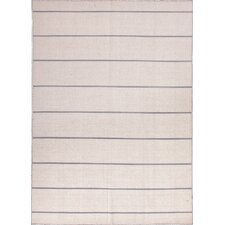Coastal Living(R) Dhurries White Stripe Rug