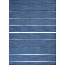 Coastal Living(R) Dhurries Denim Stripe Rug