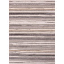 Coastal Living(R) Hand-Tufted Gray Stripe Rug
