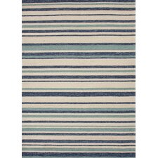 Coastal Living(R) I-O Blue Stripe Rug