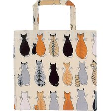 Cats in Waiting PVC Gusset Bag