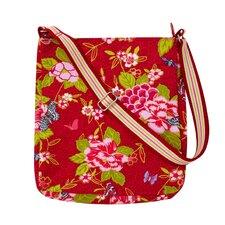 Floral Butterfly Messenger Bag